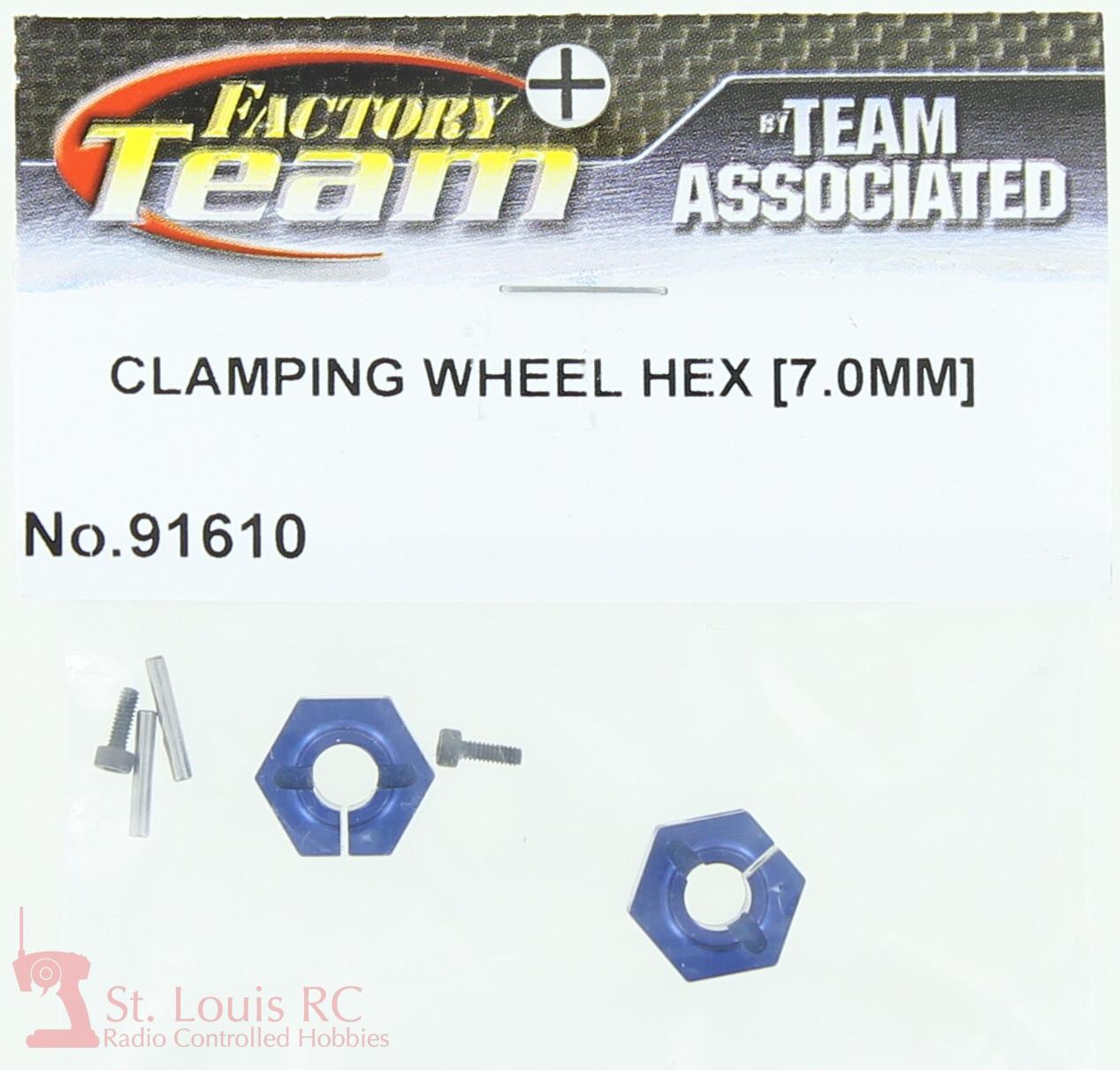 New ASC91610 Team Associated 91610 Clamping Wheel Hex 7.0mm