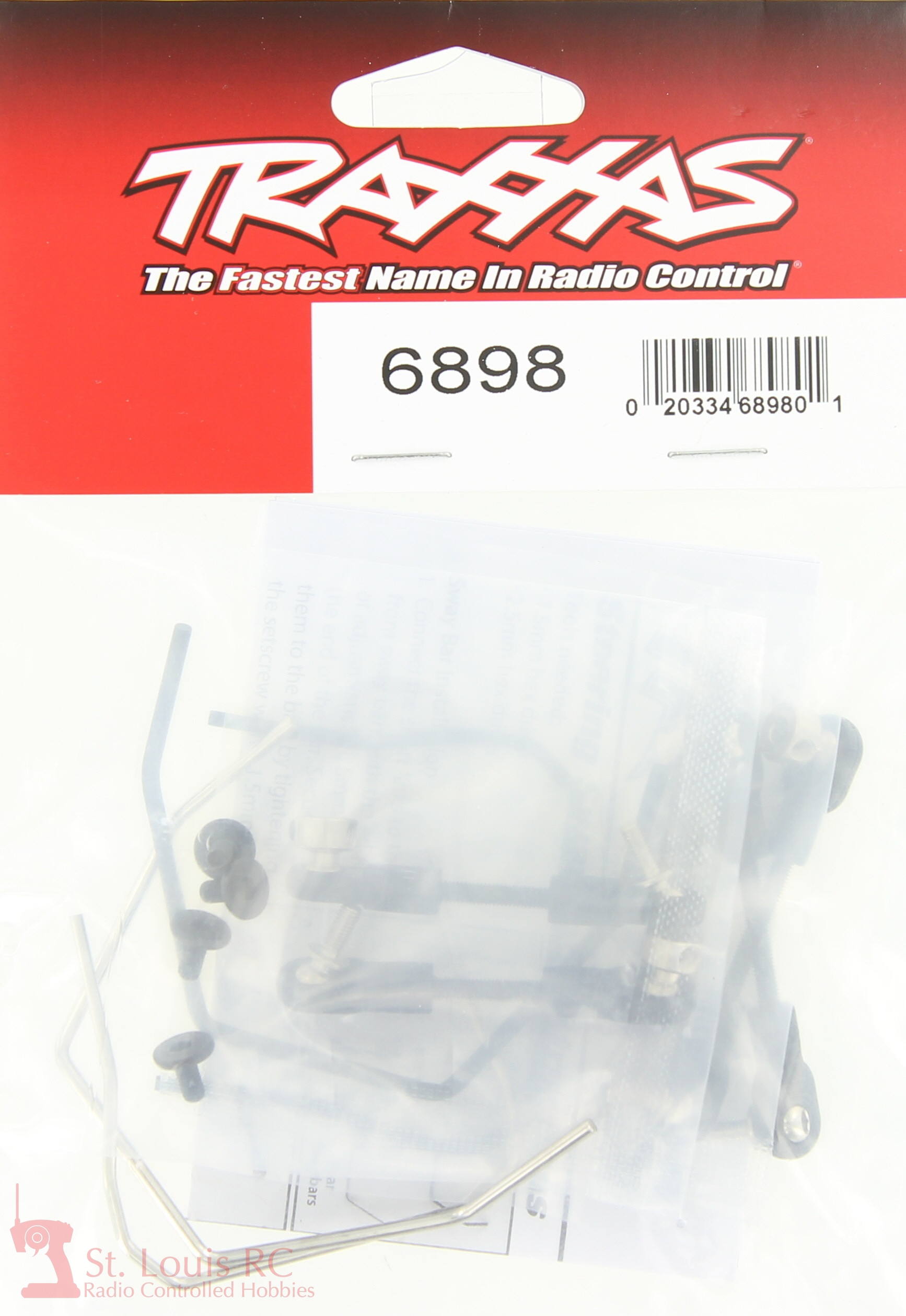traxxas 6898 sway bar kit slash 4x4 new in package - 6898